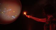 Performance digital e instalación interactiva. Código*Pléyade (2014)