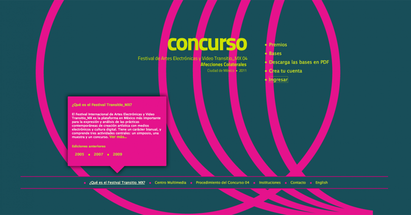 """""""Transitio_MX"""" Diseño. Festival internacional de Artes electrónicas y video (2005-2011)"""