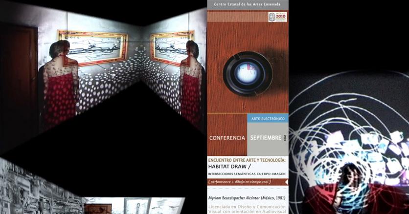 """""""Habitat-Draw"""" Intersecciones semánticas cuerpo-imagen-tecnología (2008)"""
